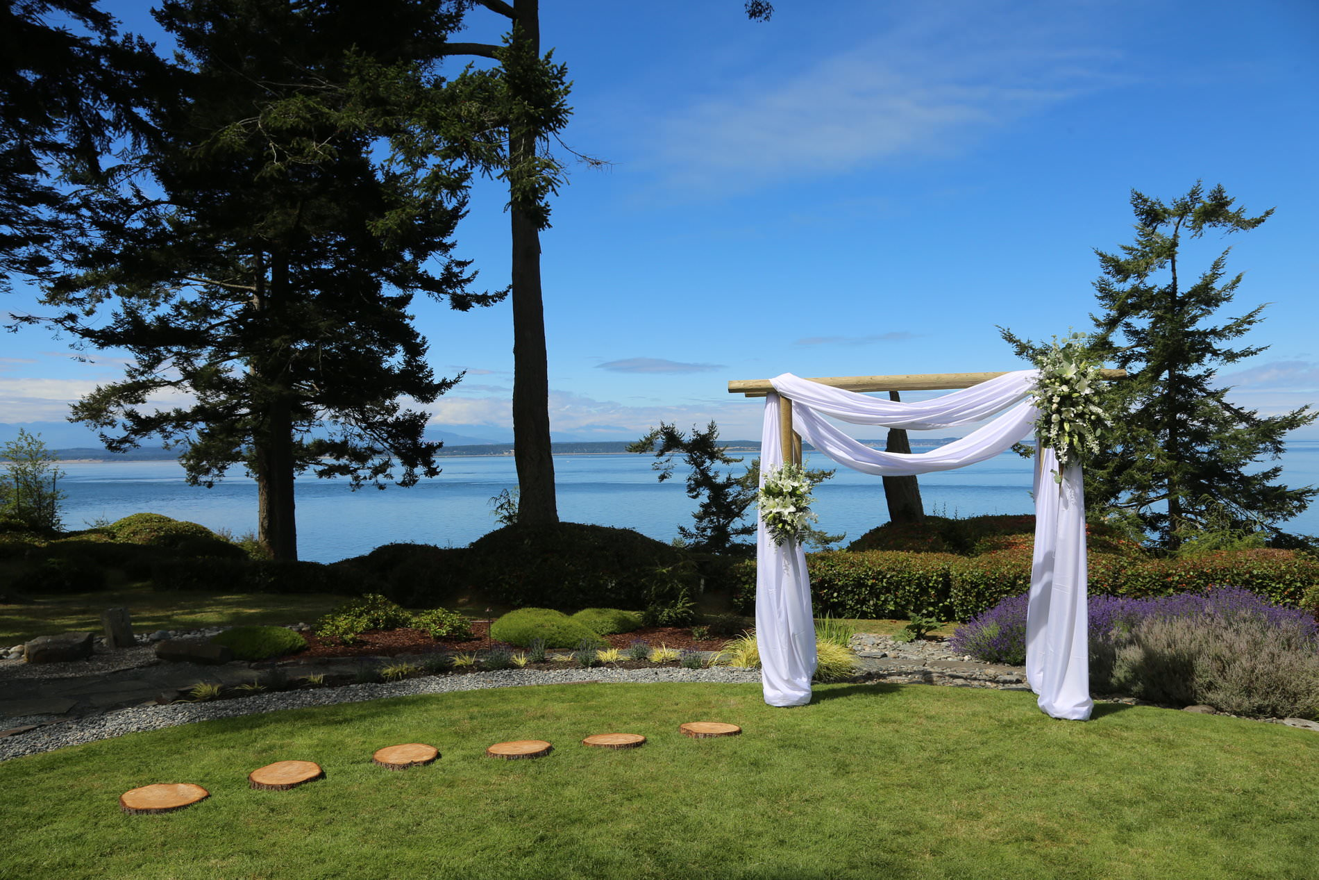 Draped Wedding Altar